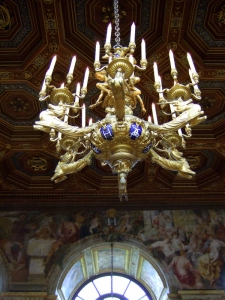 A Chandelier at La Salle de Bal